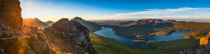 Sunrise over Highland Peaks - Scotland